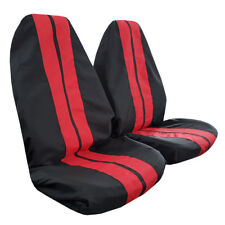 Pair GT Racing Style Black Red Throw Over Slip On Car Seat Covers For Toyota