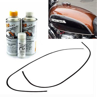 Honda CB 500 Four K0 K1 Tankdekor Zierstreifen Schwarz Weiß Tank Stripes Decor