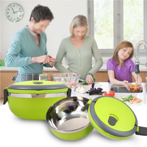 Stainless Steel Portable Thermal Insulated Lunch Box Bento Food Picnic Container