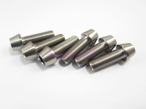 M10 x 30mm 1.25 Pitch Titanium Ti Bolt Taper Hex Allen Socket Head Screw GR5