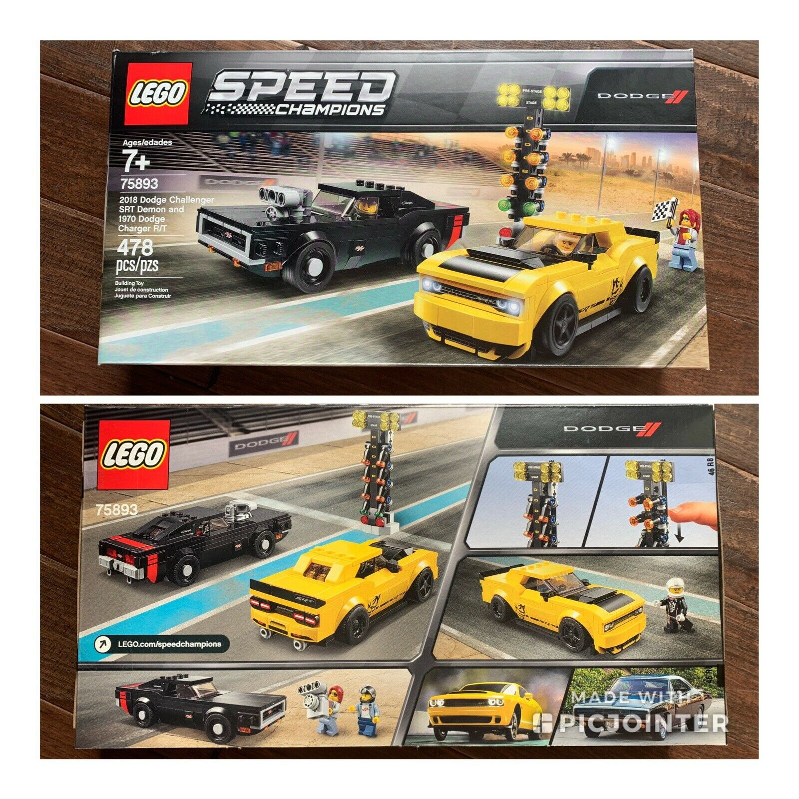 LEGO 75893 Speed Champions 2018 Dodge Challenger SRT Demon & 1970 Charger R T