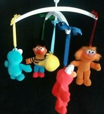Vintage Sesame Street Crib Mobile Big Bird Cookie Monster Elmo Zoe