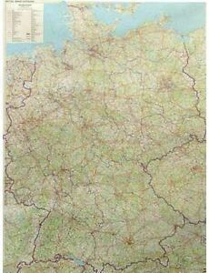 Geographical Map Of Germany.Details About Germany Wall Map Print Geographical Art For Office Classroom Finish Options