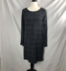 Loft Ann Taylor Sz M Black Long Sleeve Fitted Stretchy