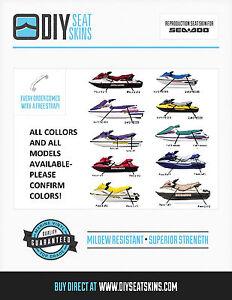 Replacement Seat Skin Cover for Sea-Doo 1996-1999 GTX//GTX LTD//GTX RFI 1997-2000 GTI DIY Seat Skins Black