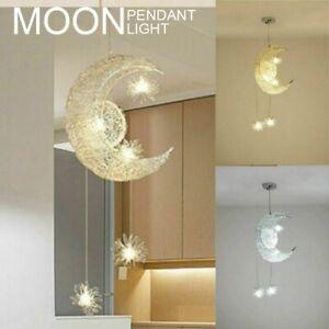 Moon Star Led Ceiling Pendant Light Chandelier Kids Bedroom Decoration Lighting Ebay