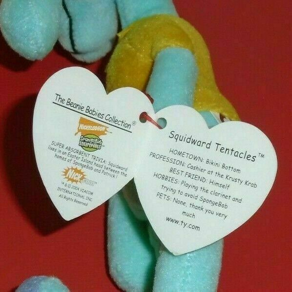 Ty Beanie Baby SQUIDWARD SQUIDWARD SQUIDWARD TENTACLES (SpongeBob