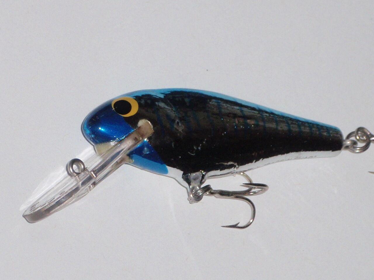 Bagley's Barsch n Shad Sehr Selten Farbe H7c Blau Kopf Kopf Kopf Chrom Wobbler Fischköder fdf8a9