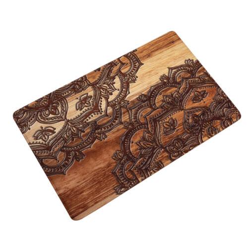 Mandala Flower Door// Floor Mat 40cm x 60cm Bathroom Kitchen Absorbent Carpet