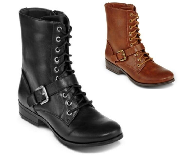 a n a Womens Boots London Zipper Laces Man Made size 6 6.5 7.5, 8.5, 9 10 NEW