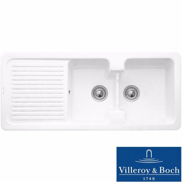Villeroy & Boch Condor 80 2.0 Bowl White Ceramic Kitchen Sink - No ...