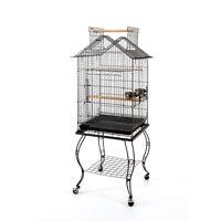 Open Roof Parrot Lovebird Cockatiel Cockatiels Parakeets Bird Cage With Stand