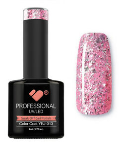 YBJ-013-VB-Line-Hot-Platinum-Pink-Rose-Glitter-UV-LED-soak-off-gel-nail-polish