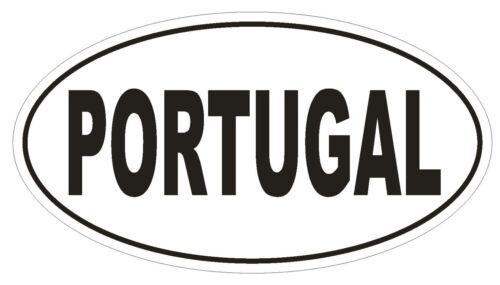 Portugal Ovale Autocollant ou Casque Autocollant D2144 Pays Euro ovale