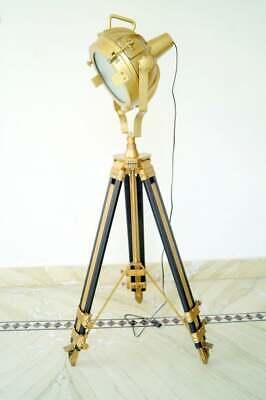 1Search Light Wooden Tripod Spotlight Floor Lamp Handmade Home Decorative Gift