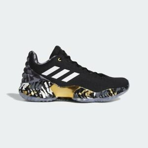 53708802406 Adidas Basketball Pro Bounce Low 18 Kyle Lowry PE Black Gold Raptors ...