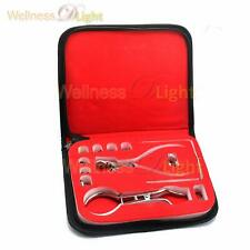Starter Kit Of 12 Pcs Rubber Dam Dental With Frame Punch Clamps Instru Dn 2207