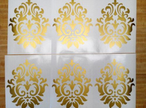 10 Damask Flourish Vinyl Wall Decal Graphics Living Room removable wallpaper