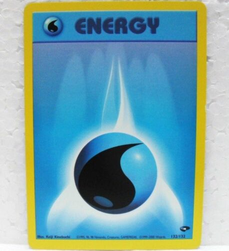 Pokemon Energy Cards-Gym Challenge Water, Fire, FIGHT, Grass, Thunder, Psych