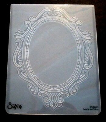 Sizzix Large Embossing Folder ORNATE OVAL FRAME fits Cuttlebug & Wizard