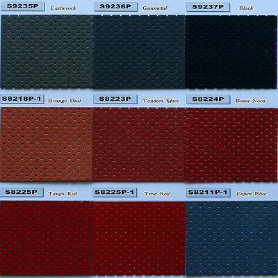 "ECO AUTOMOTIVE PUNCHING PERFORATED ULTRA SUEDE SOFA UPHOLSTERY CAR SEATING 54""W"
