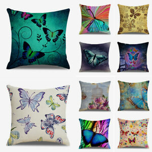 Am-Colorful-Butterfly-Pillow-Case-Cushion-Cover-Sofa-Bed-Car-Cafe-Home-Decor-Gr