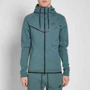 Details about Nike Tech Fleece Windrunner , XXL , NEW , 805144,386 Black  Hoodie Blue Green