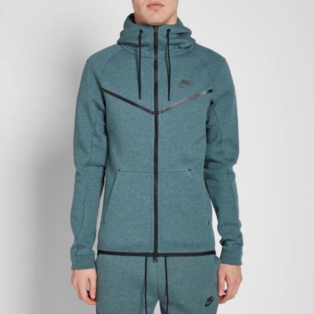 Nike Tech Fleece Windrunner Xxl New 805144 386 Black Hoodie Blue Green For Sale Online