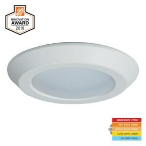 Details About Halo Bld 6 In White Integrated Led Recessed Ceiling Mount Light Trim