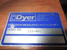 Dyer Subito 271 045 Bore Gage 110mm 300 Mm Range
