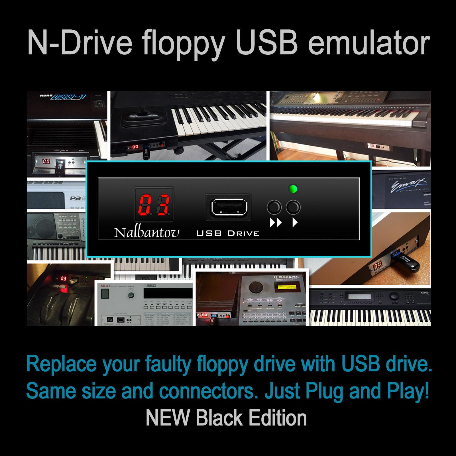 USB Floppy Drive Emulator N-Drive 100 for Roland E500 XP60 XP80 EM2000 MT300