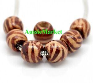 50-x-wooden-wood-beads-12mm-x-11mm-zebra-tiger-stripe-large-big-hole-brown-beige