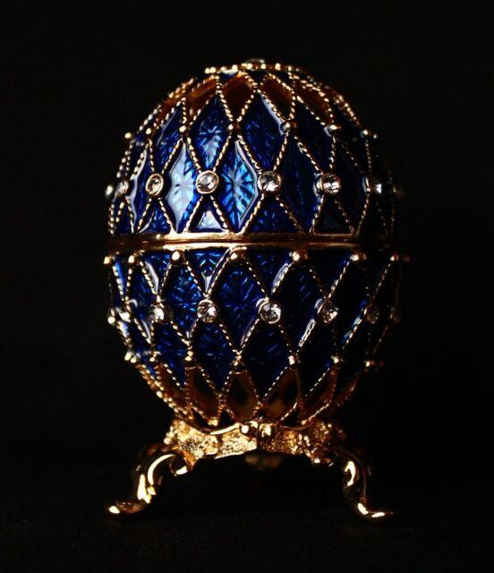 "St Petersburg Russian Faberge Egg: Easter Egg Trinket Box, 3.3"""