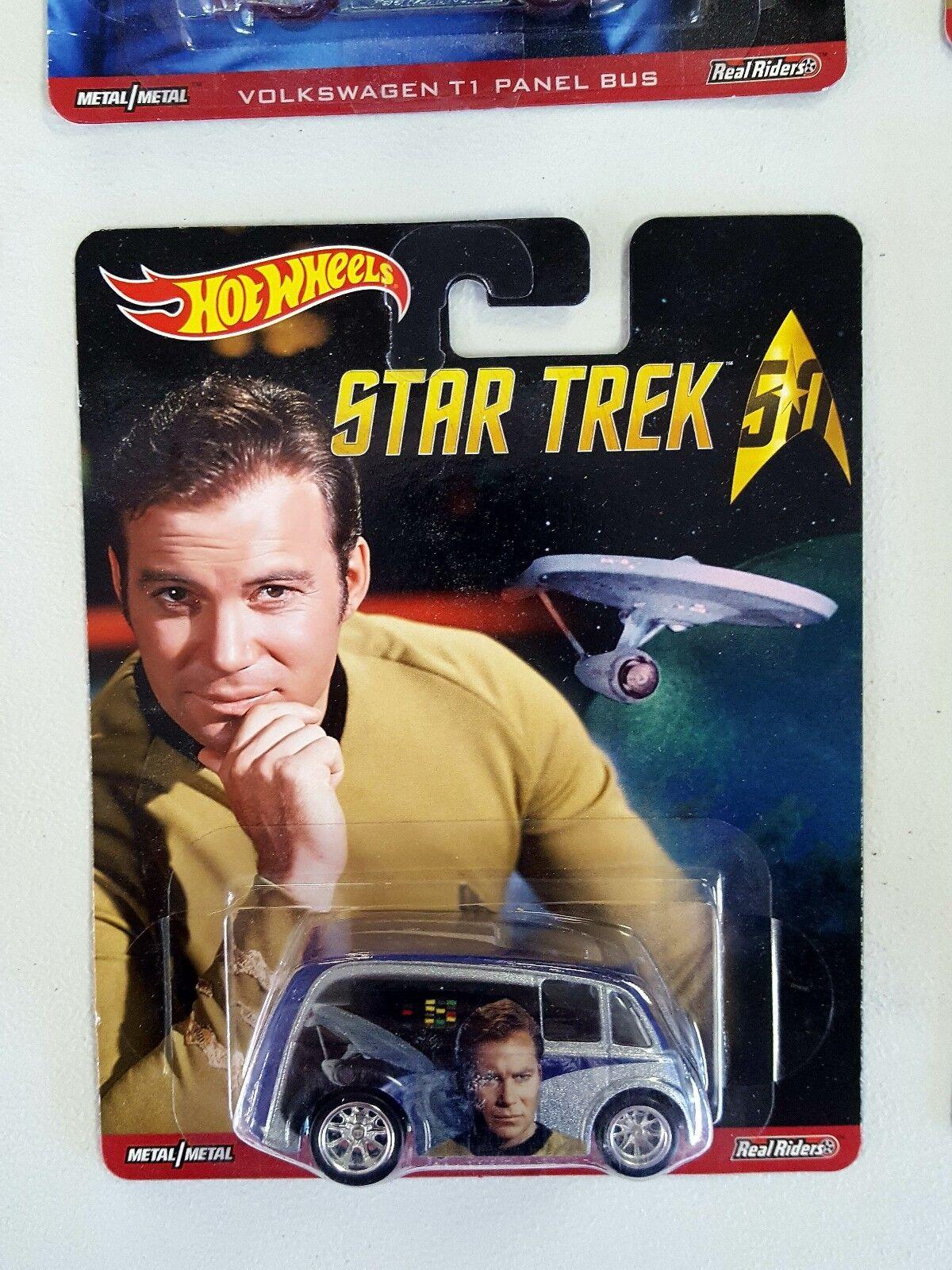 2015 Hot Wheels Star Trek 50th Anniversary Complete Set Incl Bones  Real Riders