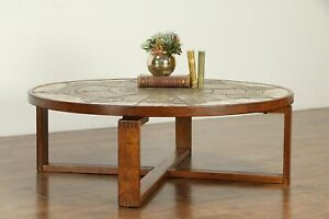 Midcentury Modern Vintage Danish Teak & Tile Coffee Table ...