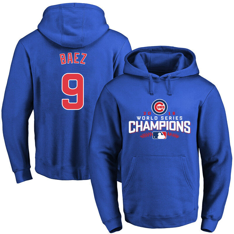 Chicago Chicago Chicago Cubs Javier Baez Jersey/Hoodie All Stitched with Name & Number Medium 372a9d