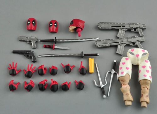 PVC Action Figure Toy Collection Gifts IN BOX Figma EX-42 X-Men Deadpool DX Ver