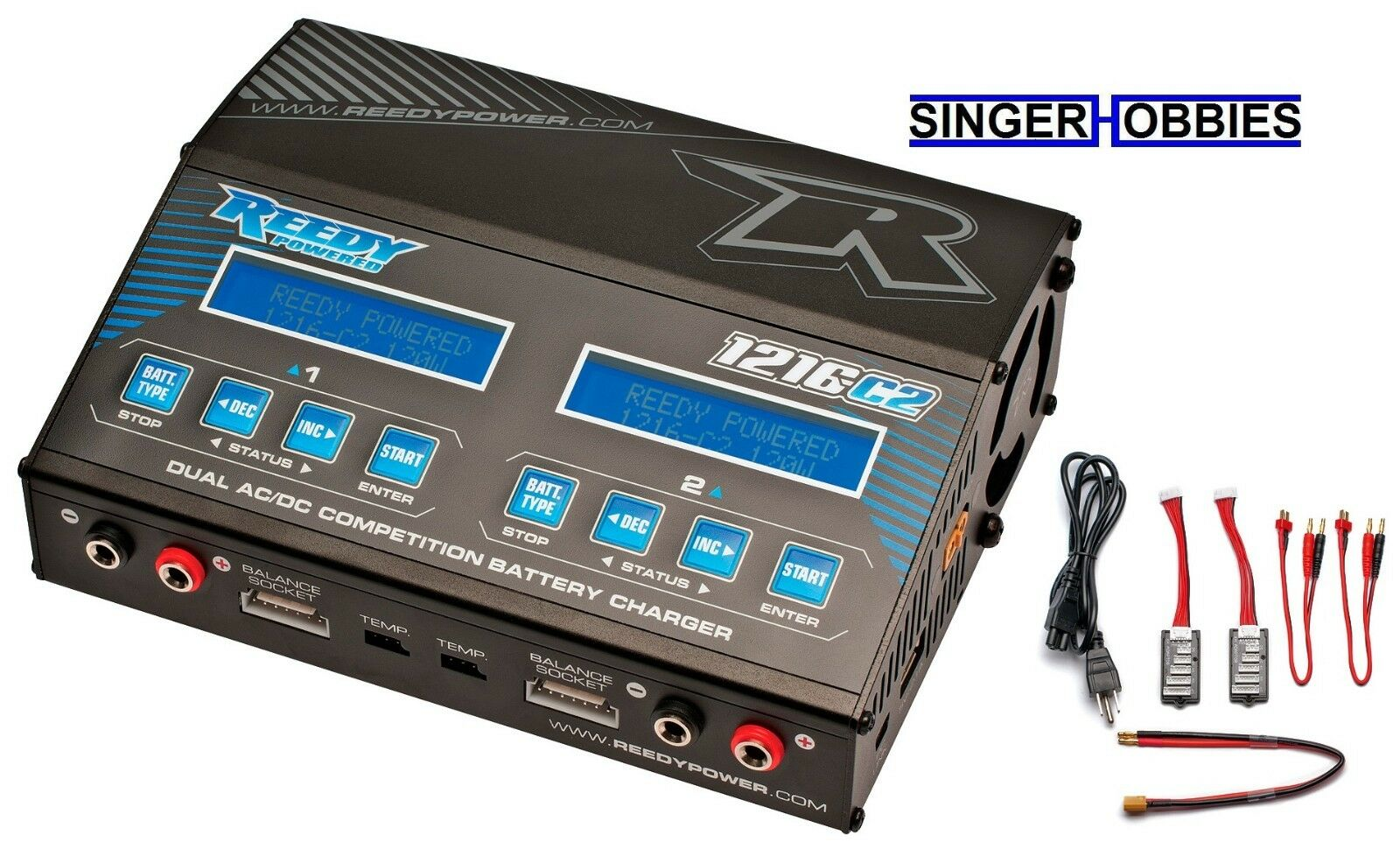 Reedy 1216-C2 doble Associated AC DC lithium-ion polímero, NiMH Tvc equilibrio cargador ASC27200 HRP