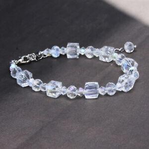 Crystal-Beaded-Bracelet-Gemstone-Transparent-Crystal-Bracelet-Gemstone-Bangle-Z
