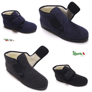Caricamento dell immagine in corso Pantofole-ciabatte-alte-uomo -strappo-italiane-calde-comode- 75c143bd50a