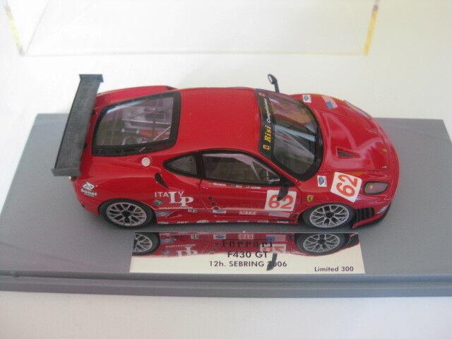 BBR/GASOLINE Ferrari F 430 GT 12h Sebring 2006 Team Risi COMP 1:43 NUOVO IN SCATOLA ORIGINALE