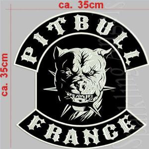 Einfach Pitbull France Rückenpatch Aufnäher Ca. 35x35cm Lassen Sie Unsere Waren In Die Welt Gehen