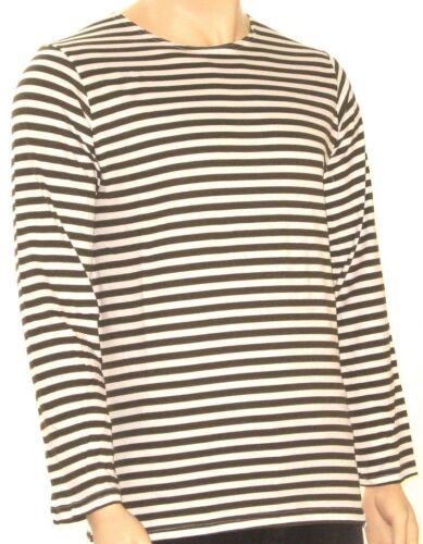 """Russe à manches longues Sailor T-Shirt-Couleur Vert Olive /& Blanc 34-46/"""" tour de poitrine"""