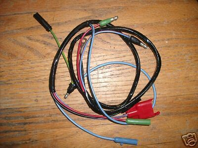with 8 cylinder Engine 1966 Ford Mustang Gauge Feed Wiring Harness