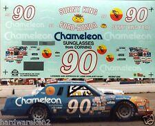 NASCAR DECAL #90 CHAMELEON SUNGLASSES - SUNNY KING FORD 1983 FORD THUNDERBIRD