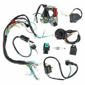 CDI-Wiring-Harness-Ignition-Coil-Rectifier-Switch-Kit-for-50cc-125cc-Motorcycle