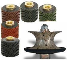 2 Wet Polishing Drum Wheel 7 2 Full Bull Nose Router Bit Stone Concrete Edge