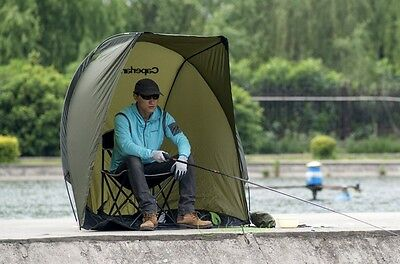 Fishing Shelter Sunshade Tent Waterproof Sun Protection Compact Angler Caperlan