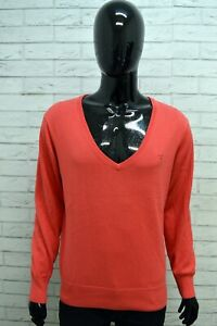 Maglione-Uomo-GANT-Taglia-L-Pull-Cardigan-Pullover-Cotone-Sweater-Felpa-Rosa