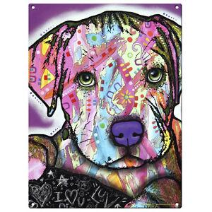 Baby Pit Bull Dog Dean Russo Pop Art Sign Pet Steel Wall Decor 12 x 16